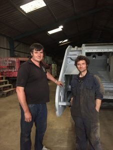 Guy Martin, Stephen MacHaye Museum Chairman with the Mark 4 tank.